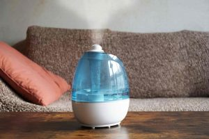 humidifier on a coffee table